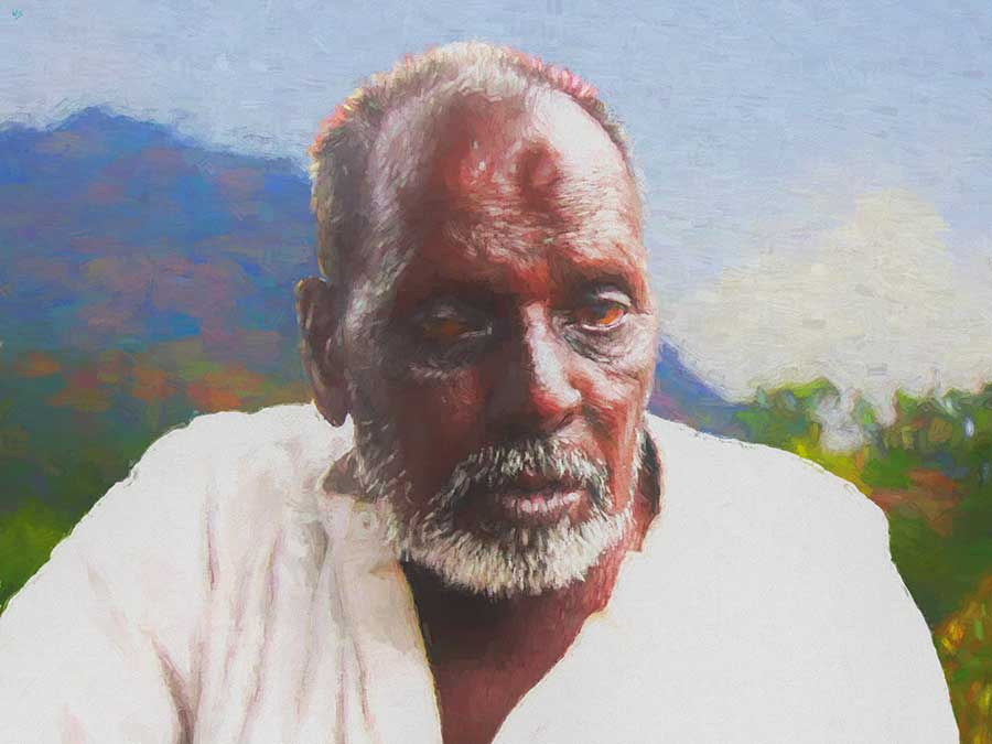Indian Beggar 21 portrait painting