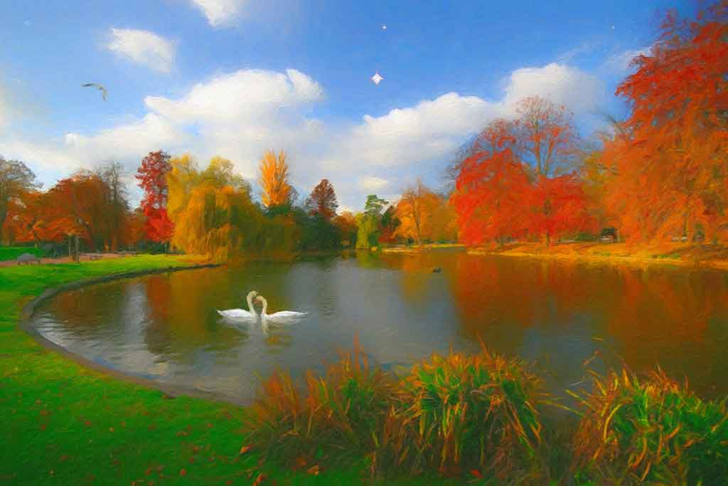 Autumn Paintings In 4 Seasons Landscapes