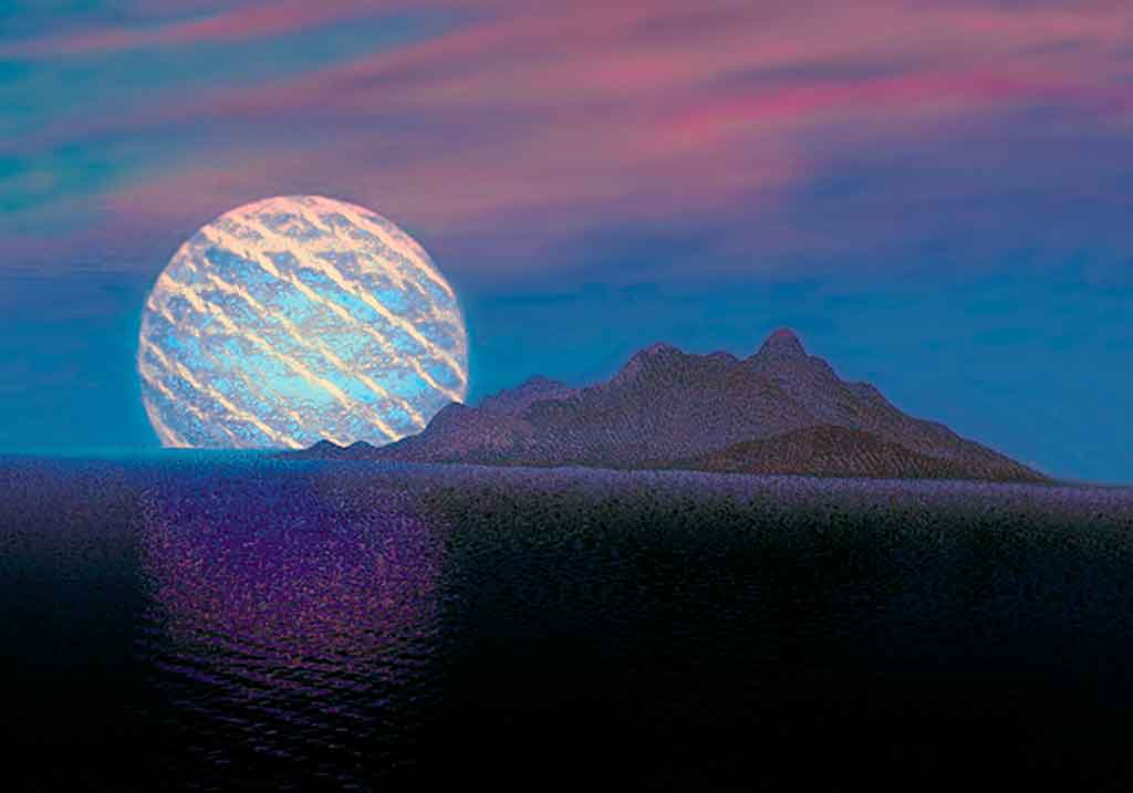 Jupiter Rising, 3-D painting on art canvas print by Wieslaw Sadurski