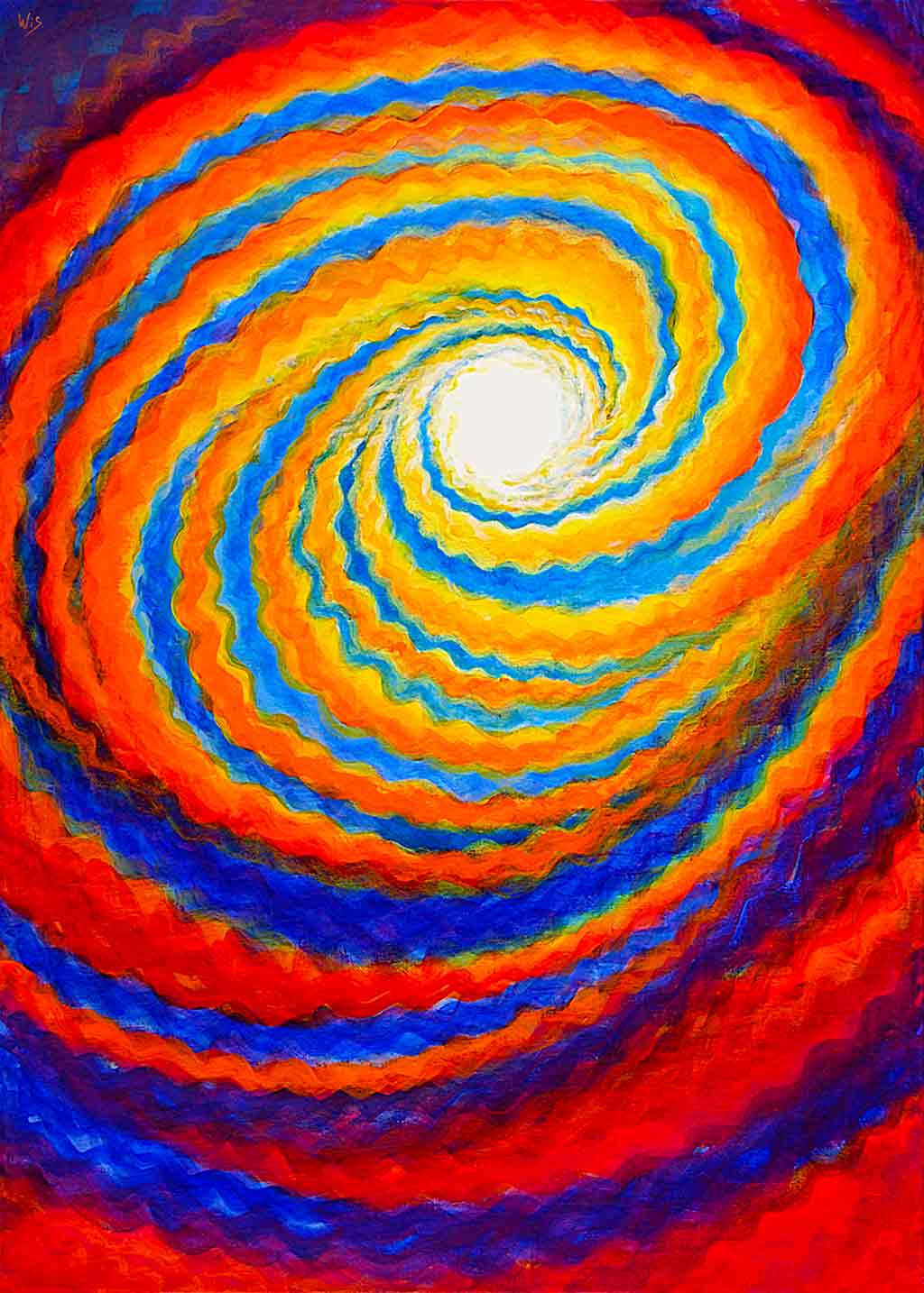 Spiral Field, oil painting on canvas and Art Canvas Print by Wieslaw Sadurski