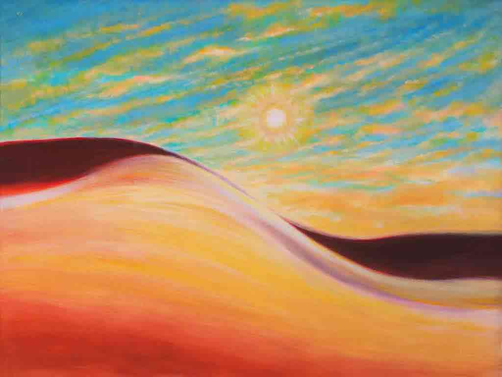 Desert of Desire, oil Painting on canvas and Art Canvas Print by Wieslaw Sadurski