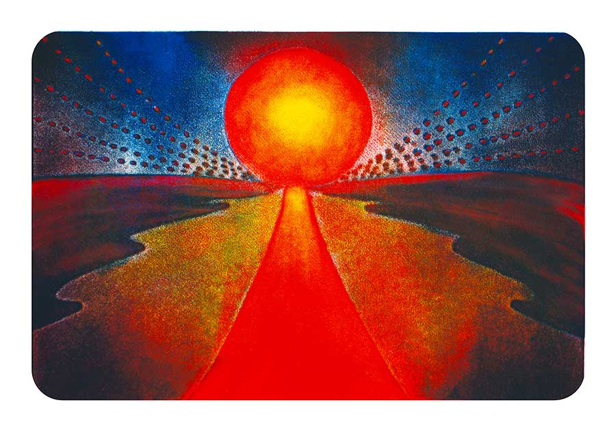 Sun Site, original Print-Painting and Art Print by Wieslaw Sadurski