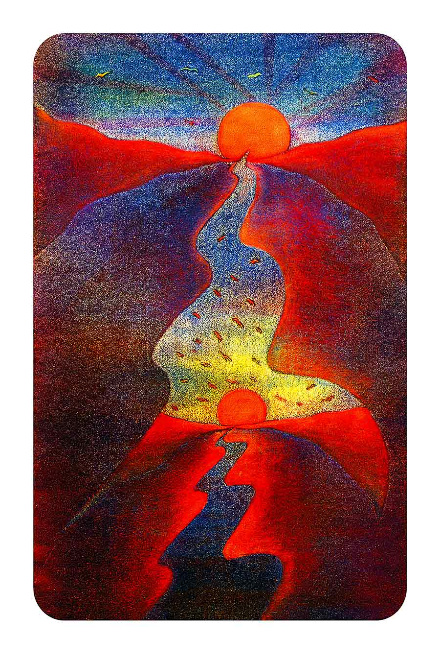 Two Horizons, original Print-Painting and Art Print by Wieslaw Sadurski