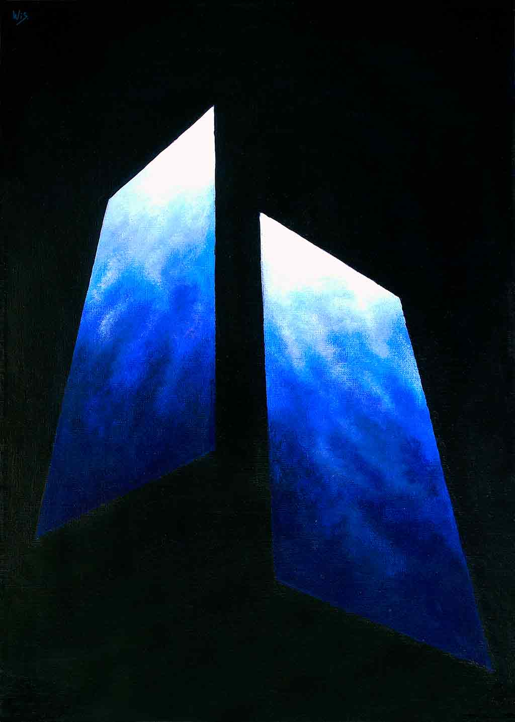 Abstract Blue, 1995, Original Acrylic Painting and Art Canvas Print