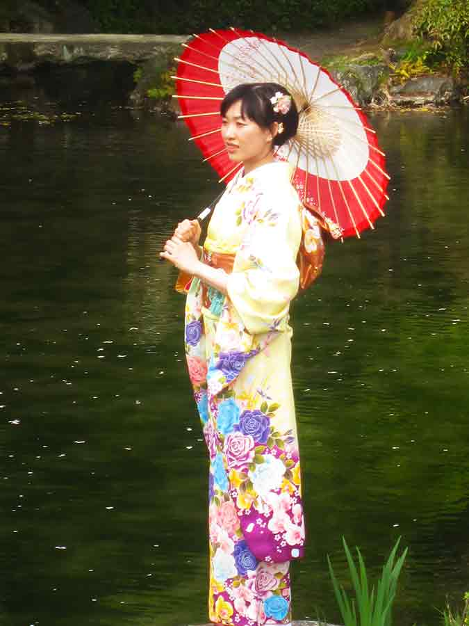 Kyoto Lady with umbrella, photo by Wieslaw Sadurski