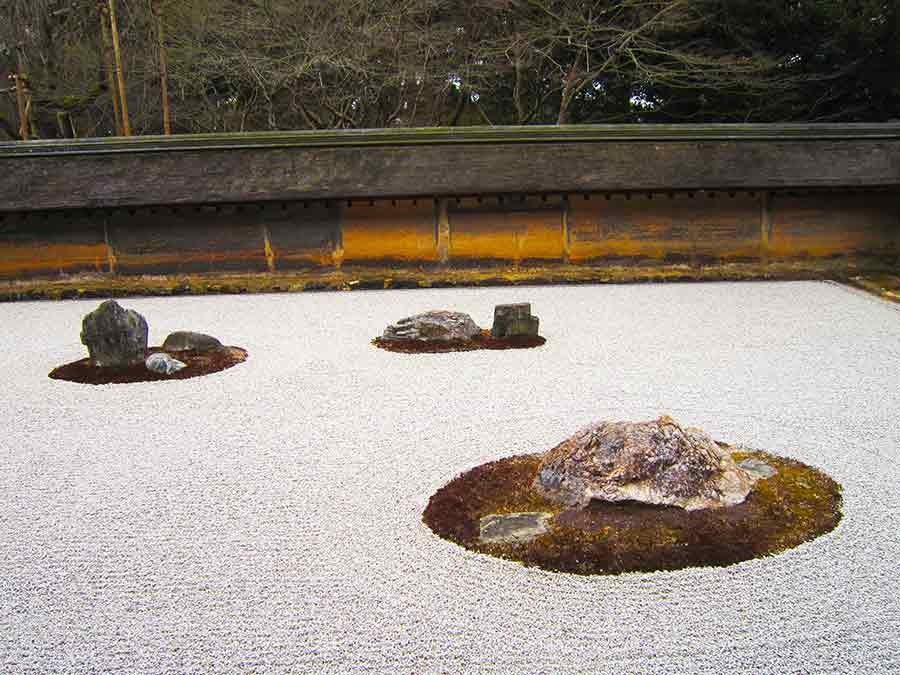 Ryōan-ji Zen Garden in Kyoto, photo by Wieslaw Sadurski