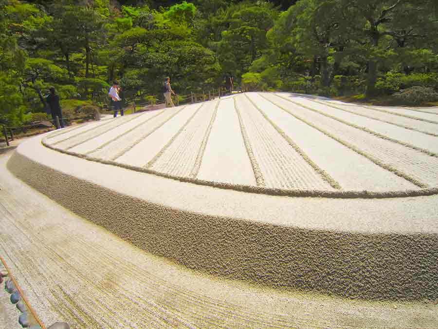 Sea of Silver Sand 2, Ginkakuji Zen Garden in Kyoto, photo by Wieslaw Sadurski