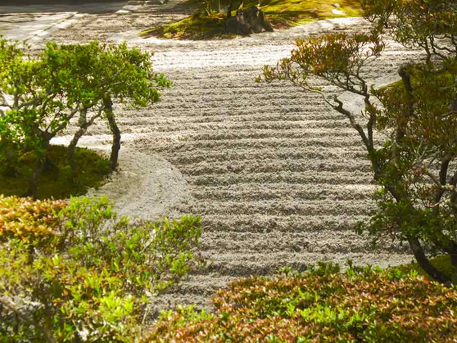 Ginkakuji Zen Garden in Kyoto, photo by Wieslaw Sadurski