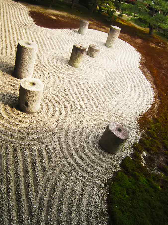 Tofukuji dry Zen Eastern Garden in Kyoto, photo by Wieslaw Sadurski