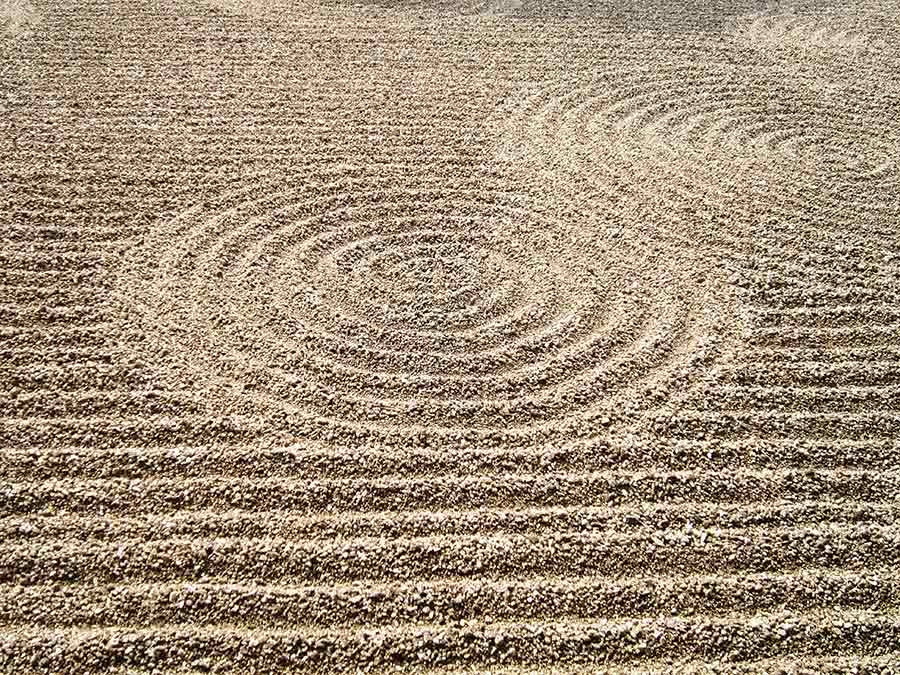 Gravel waves in Tofukuji Zen Garden in Kyoto, photo by Wieslaw Sadurski