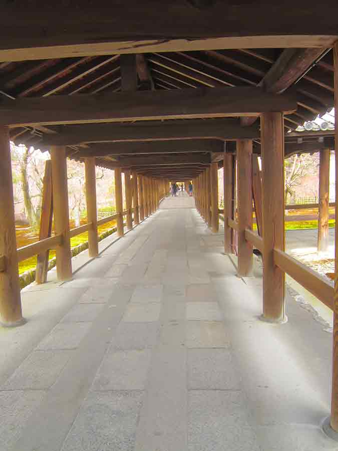 Hallway Tofukuji Zen Garden in Kyoto, photo by Wieslaw Sadurski